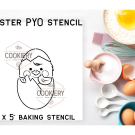 Easter Chick PYO Stencil - Paint your Own Stencil - Cookie Stencil - Airbrush Stencil - Baking Stencil