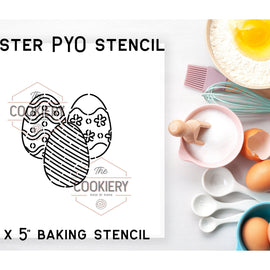 Easter Eggs PYO Stencil - Paint your Own Stencil - Cookie Stencil - Airbrush Stencil - Baking Stencil