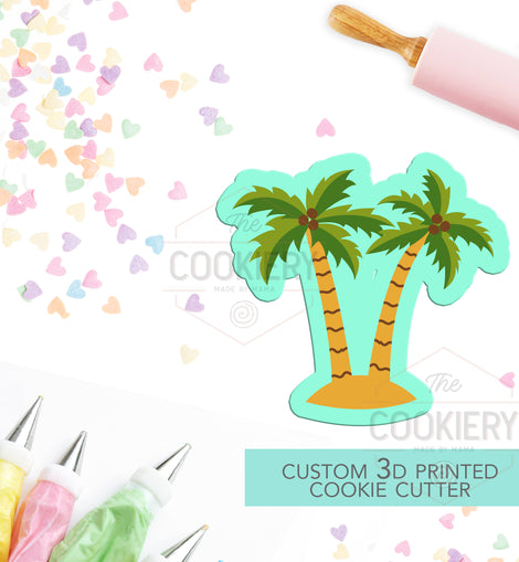 Palm tree cookie cutter Tropical cookie cutter