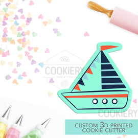 Sailboat Cookie Cutter - Beach Summer Cookie Cutter - 3D Printed Cookie Cutter - TCK27108