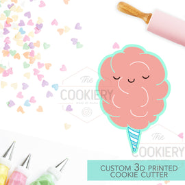 Cotton Candy Cookie Cutter - Cute Cotton Candy -  3D Printed Cookie Cutter - TCK22146