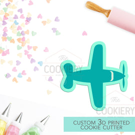 Propeller Plane Cookie Cutter - Top View Propeller Plane - Airplane Banner - 3D Printed Cookie Cutter - TCK27104