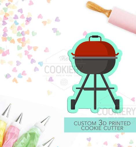 BBQ Grill  Cookie Cutter - Barbecue Grill Cutter  - 3D Printed Cookie Cutter - TCK19100