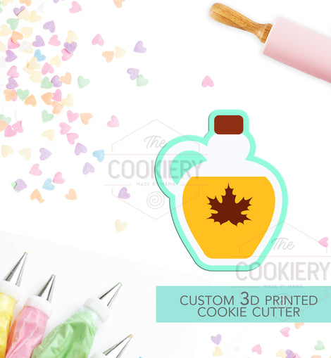 Bottle of Maple Syrup -  Maple Syrup Canada Day Cookie Cutter 3D Printed Cookie Cutter - TCK74112