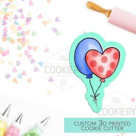 Party Balloons Cookie Cutter - Balloons Cookie Cutter - Party Banner Cookie - 3D Printed Cookie Cutter - TCK68103