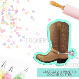 Cowboy Boot Cookie Cutter -  Western Theme Cutter -  3D Printed Cookie Cutter - TCK81108
