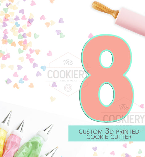 Block Number Eight Cookie Cutter - Number 8 Cookie Cutter -  TCK46154