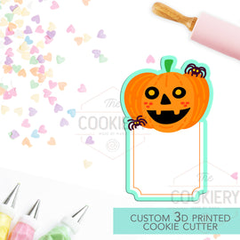 Pumpkin Plaque Cookie Cutter - Halloween Name Plaque Cutter - Cookie Cutter -  3D Printed Cookie Cutter - TCK62141