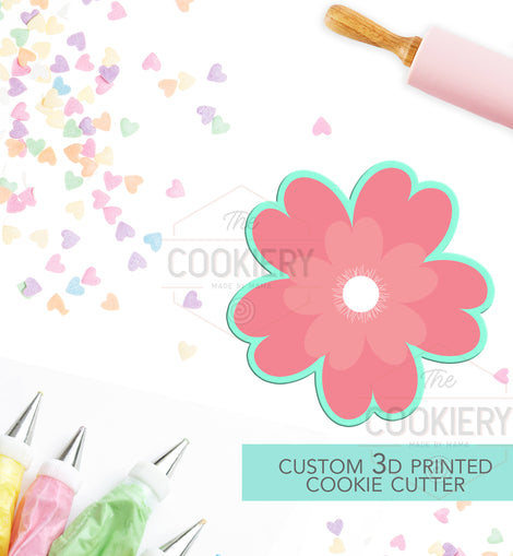 Flower Cookie Cutter - Flowers and Leaves Cutter - Floral Cluster Cookie Cutter - 3D Printed Cookie Cutter - TCK48152