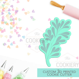 Leaf Branch Cookie Cutter - Autumn Branch Cutter -  Thankgiving Cookie Cutter - 3D Printed Cookie Cutter - TCK48155