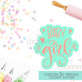 Baby Girl Cookie Cutter, Baby Shower Cookie Cutter  - Stencil and Cutter - 3D Printed Cookie Cutter - TCK23136