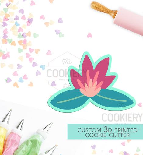Flowers Cookie Cutter - Flowers and Leaves Cutter - Floral Cluster Cookie Cutter - 3D Printed Cookie Cutter - TCK48143