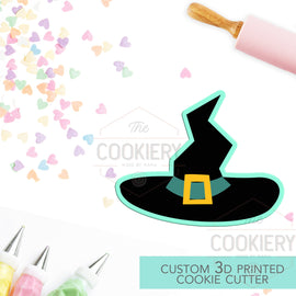 Witch's Hat Cookie Cutter - Halloween Witch  - Cookie Cutter -  3D Printed Cookie Cutter - TCK62147