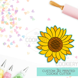 Sunflower Cookie Cutter - Flowers and Leaves Cutter - Autumn Sunflower - 3D Printed Cookie Cutter - TCK48156