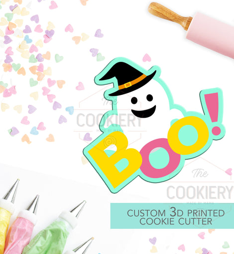 Boo Ghost Cookie Cutter - Halloween Ghost - Cookie Cutter -  3D Printed Cookie Cutter - TCK62126