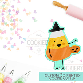 Candy Corn Trick or Treat Cutter  - Halloween Cookie Cutter -  3D Printed Cookie Cutter - TCK62136