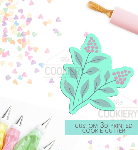 Leaf Branch Cookie Cutter - Autumn Branch Cutter -  Thankgiving Cookie Cutter - 3D Printed Cookie Cutter - TCK48153