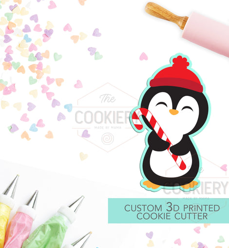 Cute Winter Penguin  Cutter - Christmas Penguin Cookie Cutter - Winter Cutter -   3D Printed Cookie Cutter - TCK84106