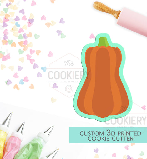 Pumpkin Cookie Cutter - Tall Pumpkin - Thanksgiving Cookie Cutter -  Halloween Cutter - 3D Printed Cookie Cutter - TCK22171