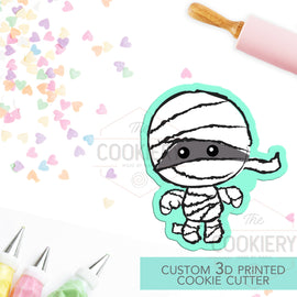 Cute Mummy Cutter - Halloween Mummy - Halloween Cookie Cutter -  3D Printed Cookie Cutter - TCK62148