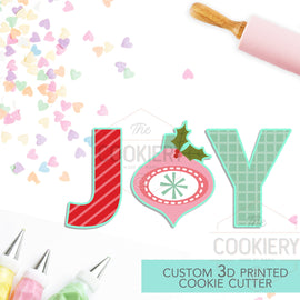 JOY Christmas Lettering Set - 3 PC Set  - Christmas Cookie Cutters - Winter Cookie cutters - 3D Printed Cookie Cutter - TCK84141 - Set of 3