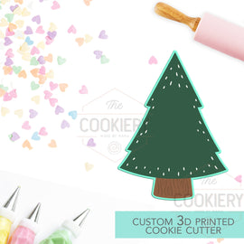 Christmas Tree Cookie Cutter - Chubby Christmas Tree Cookie Cutter - Winter Cutter -   3D Printed Cookie Cutter - TCK84157