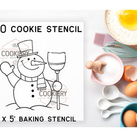 Christmas Holiday PYO Stencil - Paint your Own Stencil - Cookie Stencil - Airbrush Stencil - Baking Stencil