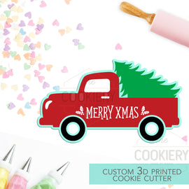 Pickup Truck with Christmas Tree - Christmas Cookie Cutter - Winter Cutter -   3D Printed Cookie Cutter - TCK84118