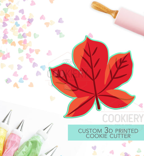 Autumn Leaf Cookie Cutter - Fall Leaf Cookie Cutter - 3D Printed Cookie Cutter - TCK86107