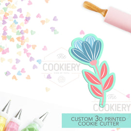 Spring Flower Cookie Cutter, Gardening Cookie Cutter - 3D Printed Cookie Cutter - TCK48166