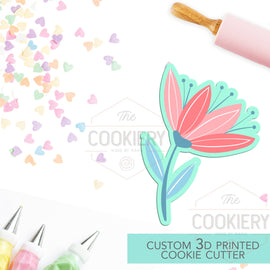 Spring Flower Cookie Cutter, Gardening Cookie Cutter - 3D Printed Cookie Cutter - TCK48167