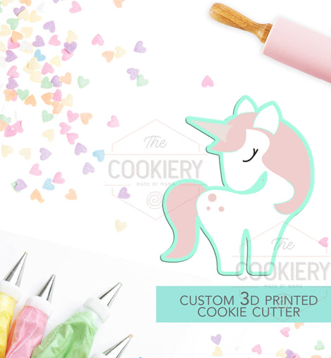 Unicorn Cookie Cutter - Princess Unicorn Cookie Cutter - 3D Printed Cookie Cutter -TCK13112