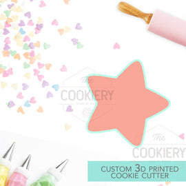 Chubby Star Cookie Cutter - 3D Printed Cookie Cutter - TCK73105