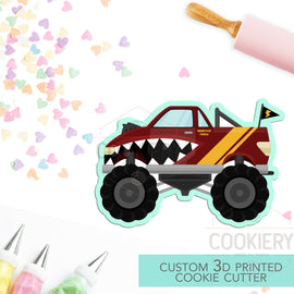 Monster Truck Cookie Cutter,  Automobile Cookie Cutter- 3D Printed Cookie Cutter - TCK27111