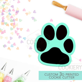 Chubby Paw Print Cookie Cutter -  Paw Print Cookie Cutter - 3D Printed Cookie Cutter - TCK34164