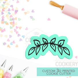 Leaf Half Wreath Cookie Cutter, Gardening Cookie Cutter - 3D Printed Cookie Cutter - TCK45191
