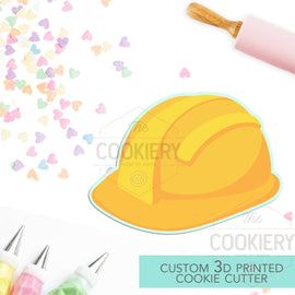 Hard Hat  Cookie Cutter, Construction Cookie Cutter, Automobile Cookie Cutter- 3D Printed Cookie Cutter - TCK27115