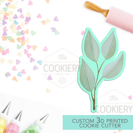 Leaf Cookie Cutter, Spring Leaf Cookie Cutter - 3D Printed Cookie Cutter - TCK48177