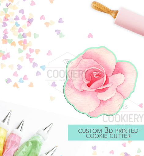 Rose Flower Cookie Cutter, Gardening Cookie Cutter - 3D Printed Cookie Cutter - TCK49106