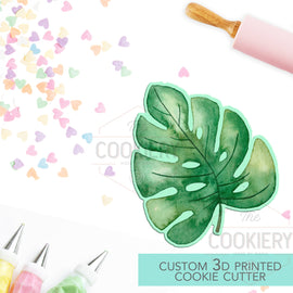 Tropical Leaf Cookie Cutter, Summer Leaf Cookie Cutter - 3D Printed Cookie Cutter - TCK49107