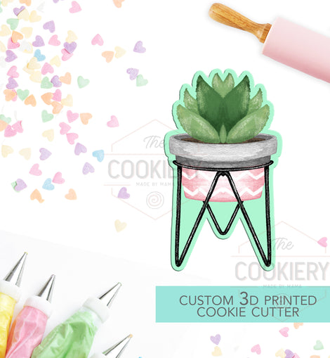 Potted Plants Cookie Cutter - Plant Lady Cookie Cutter - 3D Printed Cookie Cutter - TCK49109