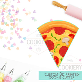 Pizza Slice Cookie Cutter - Slice of Pizza 3D Printed Cookie Cutter - TCK25107