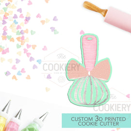 Chubby Whisk with a Bow Cutter, Baking and Cooking Cookie Cutter - 3D Printed Cookie Cutter - TCK25102