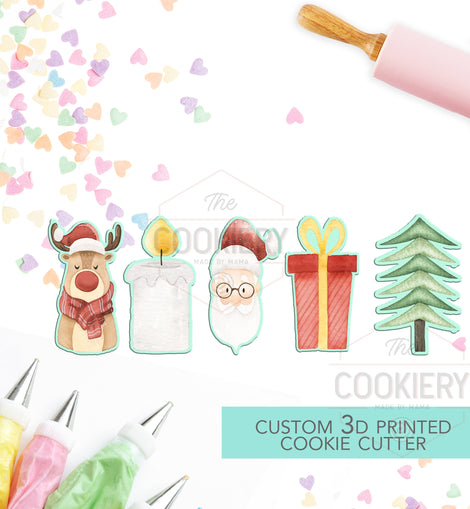 Christmas Cookie Sticks Cookie Cutter Set - Holiday Cookie Cutter - 3D Printed Cookie Cutter - TCK87103