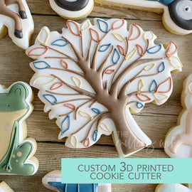 Tree with Leaves Cutter - Autumn Cookie Cutter - Spring Cookie Cutter -   3D Printed Cookie Cutter - TCK85132