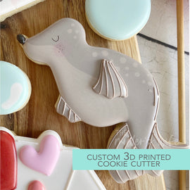 Seal Cookie Cutter - Sea Animals Cookie Cutter - Sealed with a Kiss Cookie Cutter -   3D Printed Cookie Cutter - TCK85133