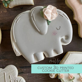 Chubby Elephant Cookie Cutter - Safari Animals Cookie Cutter -  3D Printed Cookie Cutter - TCK85137