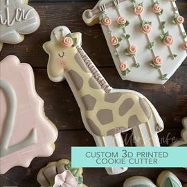 Tall Giraffe Cookie Cutter - Safari Animals Cookie Cutter -  3D Printed Cookie Cutter - TCK85138