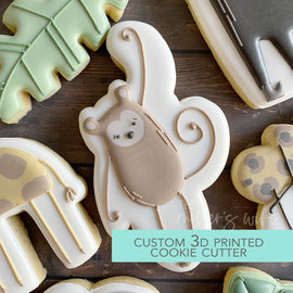 Monkey Cookie Cutter - Safari Animals Cookie Cutter -  3D Printed Cookie Cutter - TCK85139