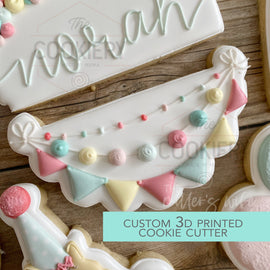 Birthday Garland  Cookie Cutter -  Birthday Animals Cookie Cutter -   3D Printed Cookie Cutter - TCK85161